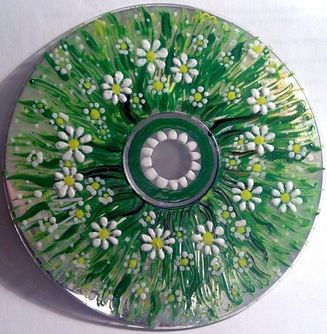 Как сделать диск для цветков 854